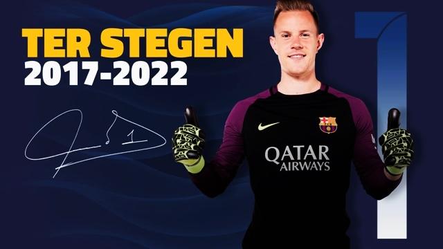 BayaranKontrak Andre ter Stegen bersama FC Barcelona