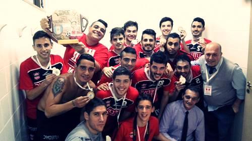 Malcom Bersama Tim Futsal Corinthias Meraih Trofi